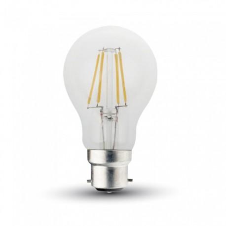 V-Tac 5W LED pære - Kultråd, B22