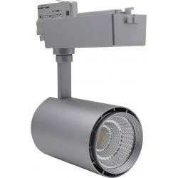 Skinnespots LED Restsalg: LEDlife skinnespot 30W - Flot design, farve: sølv / sort