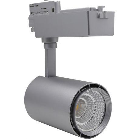 LEDlife skinnespot 30W - Flot design, farve: hvid / sølv / sort