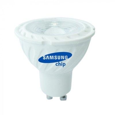 Billede af V-Tac 6,5W LED spot - Samsung LED chip, 230V, GU10 - Kulør : Varm, Dæmpbar : Dæmpbar
