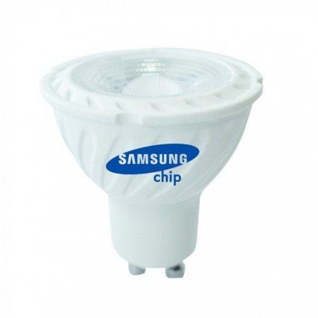Billede af V-Tac 6,5W LED spot - Samsung LED chip, 230V, GU10, Kulør: Varm, Dæmpbar: Dæmpbar