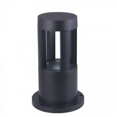 V-Tac 10W LED havelampe - Sort, 25 cm, IP65, 230V