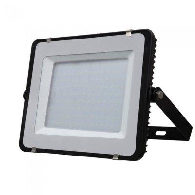 Image of   V-Tac 150W LED projektør - Samsung LED chip, arbejdslampe, udendørs - Kulør : Kold, Dæmpbar : Ikke dæmpbar, Farve på hus : Sort