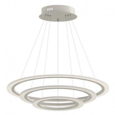 V-Tac 70W LED lysekrone med 3 ringe - Dæmpbar, blødt lys, Ø60 cm