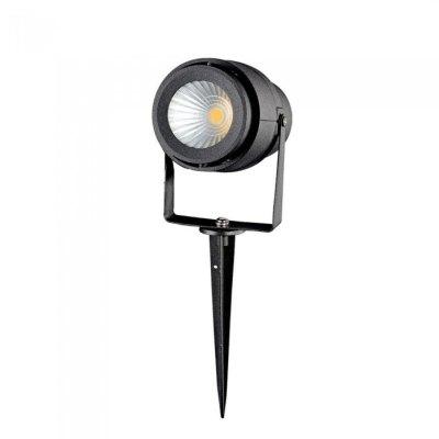 Image of   V-Tac 12W LED havelampe - Sort, med spyd, IP65, 230V - Kulør : Neutral, Dæmpbar : Ikke dæmpbar