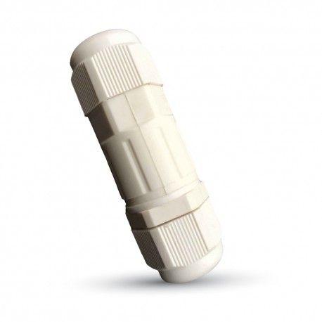 V-Tac hvid rund samledåse - Til samling af ledninger, IP65 vandtæt