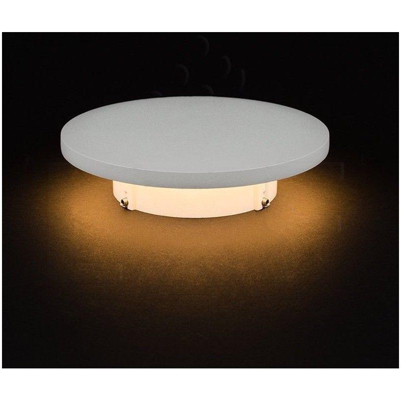 Indirekte Lampe v-tac 6w hvid led væglampe - rund, indirekte, ip65, 230v