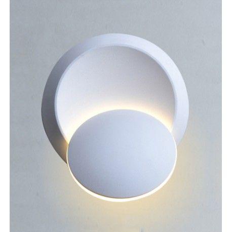 V-Tac 5W LED hvid væglampe - Rund, roterbar, IP44 udendørs, 230V, inkl. lyskilde
