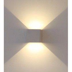 V-Tac 6W grå væglampe - Firkantet, justerbar spredning, IP65, 230V