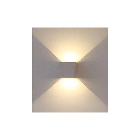 V-Tac 6W LED grå væglampe - Firkantet, justerbar spredning, IP65 udendørs, 230V, inkl. lyskilde