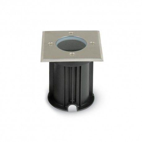 V-Tac nedgravningsspot - Firkantet, rustfrit stål, GU10 fatning