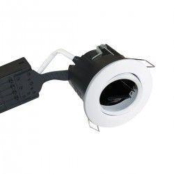 Nordtronic Uni Install indbygningsspot - Mat hvid, IP44, godkendt i isolering