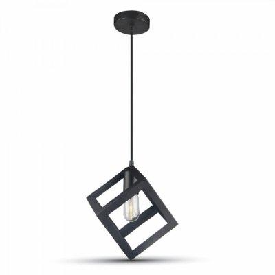 Image of   V-Tac geometrisk pendel lampe - Sort farve, kvadrat, E27