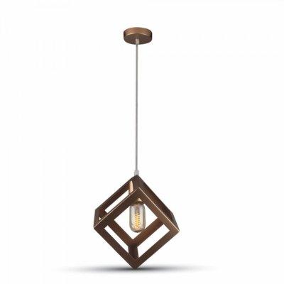 Image of   V-Tac geometrisk pendel lampe - Champagne/guld farve, kvadrat, E27