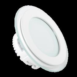 V-Tac 6W LED glas indbygningsspot - Hul: Ø7,5 cm, Mål: Ø10 cm, 230V