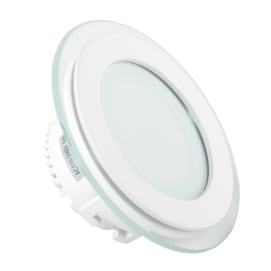 Indbygningsspot V-Tac 6W LED glas indbygningsspot - Hul: Ø7,5 cm, Mål: Ø10 cm, 230V