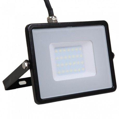 Image of   V-Tac 30W LED projektør - Samsung LED chip, arbejdslampe, udendørs, Kulør: Varm, Dæmpbar: Ikke dæmpbar, Farve på hus: Hvid