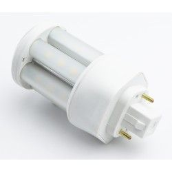 G24 GX24D LED pære - 5W, 360°, mat glas