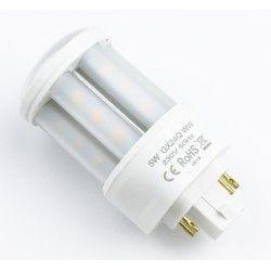 G24 GX24Q LED pære - 5W, 360°, mat glas