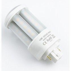 G24 GX24D LED pære - 10W, 360°, mat glas