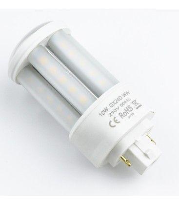 Image of   LEDlife GX24D LED pære - 10W, 360°, mat glas, Kulør: Varm