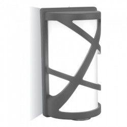 V-Tac grå væglampe - IP54 udendørs, E27 fatning, uden lyskilde