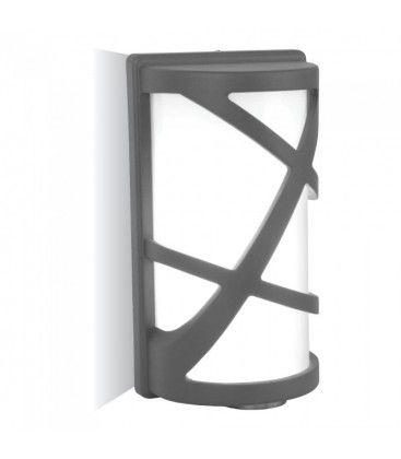 V-Tac mørkegrå væglampe - IP54, E27 fatning