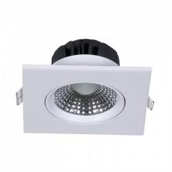 Indbygningsspot V-Tac 5W LED indbygningsspot - Hul: Ø7,5 cm, Mål: 9x9 cm, indbygget driver, 230V