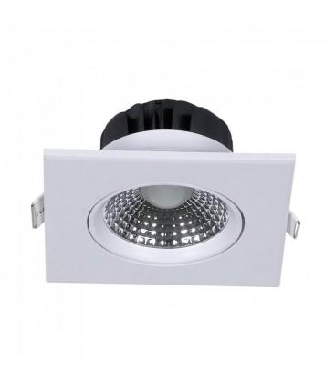 V-Tac 5W LED indbygningsspot - Hul: Ø7,5 cm, Mål: 9x9 cm, indbygget driver, 230V