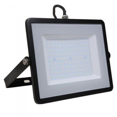 Image of   V-Tac 100W LED projektør - Samsung LED chip, arbejdslampe, udendørs - Kulør : Kold, Dæmpbar : Ikke dæmpbar, Farve på hus : Sort