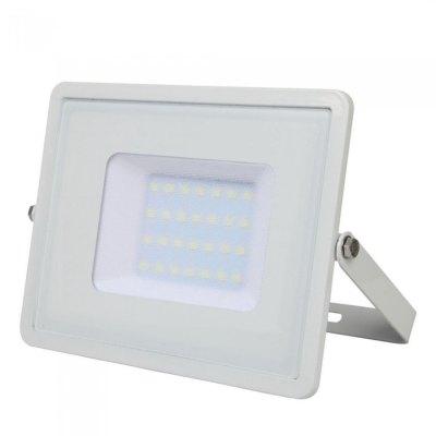 Image of   V-Tac 20W LED projektør - Samsung LED chip, arbejdslampe, udendørs - Kulør : Kold, Dæmpbar : Ikke dæmpbar, Farve på hus : Sort