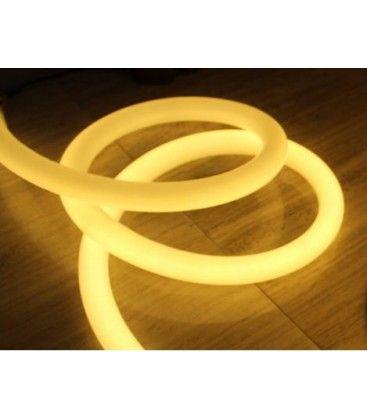 Varm hvid D16 Neon Flex LED - 8W pr. meter, IP67, 230V
