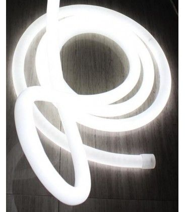 D16 Neon Flex LED - 8W pr. meter, kold hvid, IP67, 230V