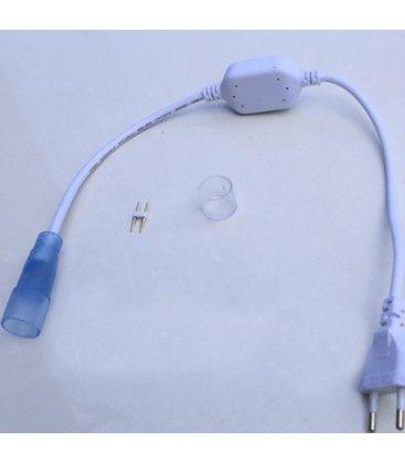 Stik til D16 Neon Flex LED - Inkl. endeprop, IP67, 230V