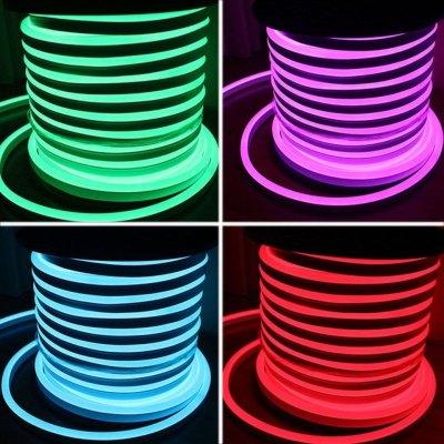Image of   8x16 Neon Flex LED - 18W pr. meter, RGB, IP67, 230V