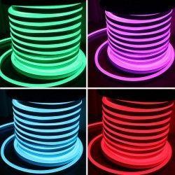 230V RGB Neon Flex 8x16 Neon Flex LED - 18W pr. meter, RGB, IP67, 230V