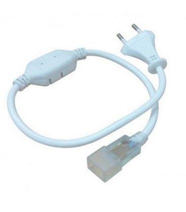 Stik til 8x16 Neon Flex LED - Inkl. endeprop, IP67, 230V