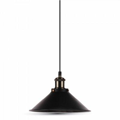 Billede af V-Tac pendel lampe - Sort, flot design, E27