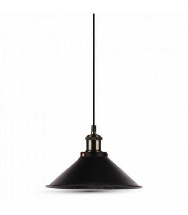 V-Tac pendel lampe - Sort, flot design, E27