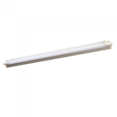Image of   V-Tac 150 cm dobbelt LED grundarmatur - Inkl. 2 stk. 22W LED rør, IP20 - Kulør : Neutral, Dæmpbar : Ikke dæmpbar