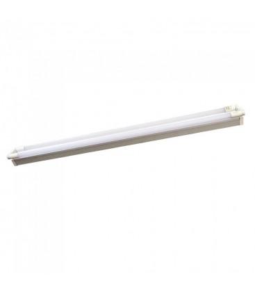 Image of   V-Tac 150 cm dobbelt LED grundarmatur - Inkl. 2 stk. 22W LED rør, IP20, Kulør: Neutral, Dæmpbar: Ikke dæmpbar