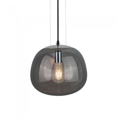 Image of   V-Tac stilfuld glas pendel lampe - Pistolgrå farvet, Ø30cm, E27