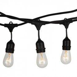 V-Tac lyskæde til 15 stk. E27 pærer - 15 meter, IP54, 230V
