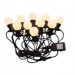 Havelamper V-Tac LED lyskæde med 20 stk. 0,5W pærer - 10 meter, IP44, 230V