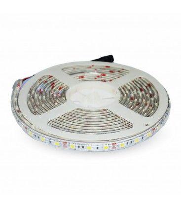 V-Tac 10,8W/m stænktæt LED strip - 5m, 60 LED pr. meter