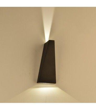 V-Tac 6W LED sort væglampe - IP65 udendørs, 230V, inkl. lyskilde