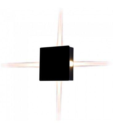 V-Tac 4W LED sort væglampe - Firkantet, IP65 udendørs, 230V, inkl. lyskilde