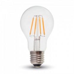E27 Stor fatning V-Tac 6W LED pære - Samsung LED chip, Kultråd, A60, E27
