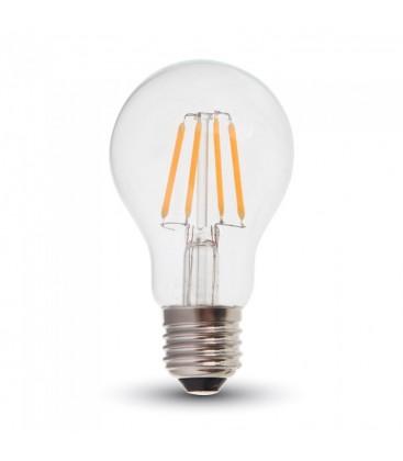 V-Tac 6W LED pære - Samsung LED chip, Kultråd, A60, E27