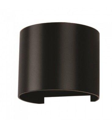 V-Tac 6W LED sort væglampe - Rund, justerbar spredning, IP65 udendørs, 230V, inkl. lyskilde